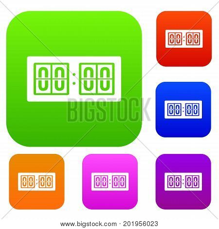 Scoreboard set icon in different colors isolated vector illustration. Premium collection