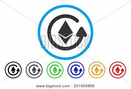 Ethereum Refund flat vector illustration for application and web design.