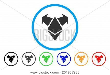 Ethereum Spend Arrows flat vector illustration for application and web design.