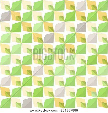 Abstract 70s geometry. Vector seamless pattern. Simple geometric background.
