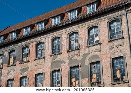 Old Building Facade In Berlin Before Restoration