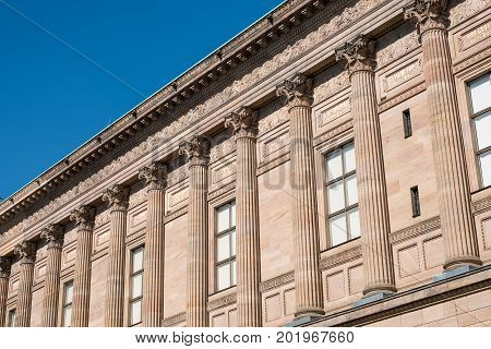 historic building old national gallery in Berlin - Altes Museum exterior