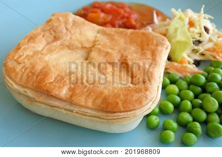 Mince Meat Pie Served On A Plate