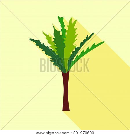 High palm tree icon. Flat illustration of high palm tree vector icon for web