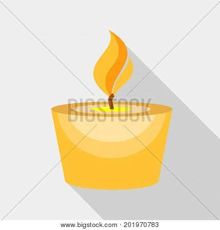 Candle icon. Flat illustration of candle vector icon for web