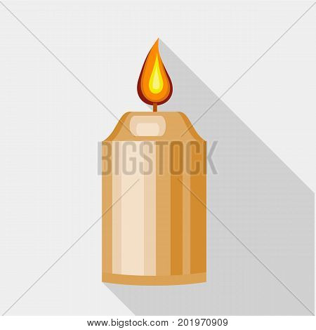 Beautiful candle icon. Flat illustration of beautiful candle vector icon for web