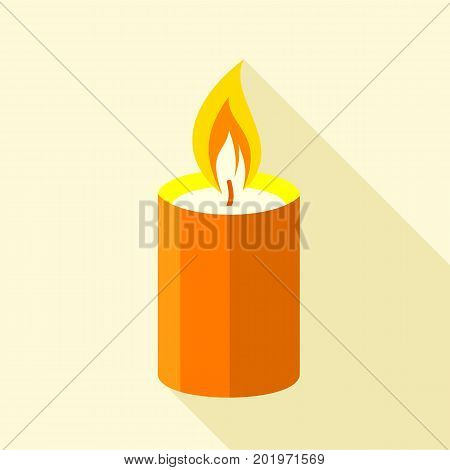Romance candle icon. Flat illustration of romance candle vector icon for web