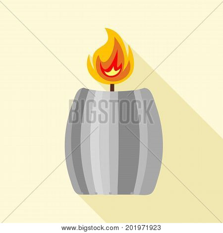 Big candle icon. Flat illustration of big candle vector icon for web