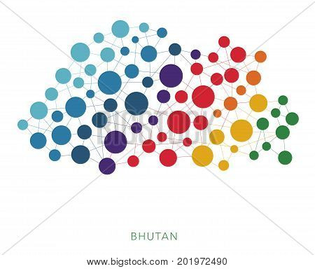 dotted texture Bhutan vector rainbow colorful background