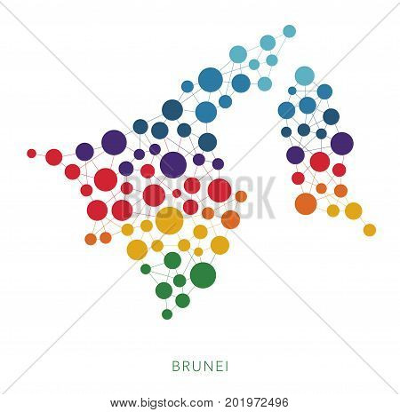 dotted texture Brunei vector rainbow colorful background