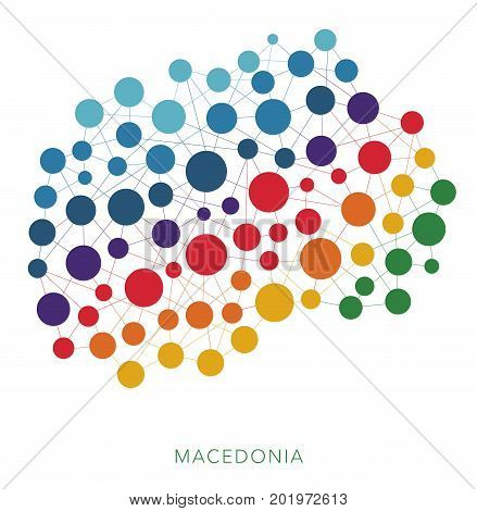dotted texture Macedonia vector rainbow colorful background