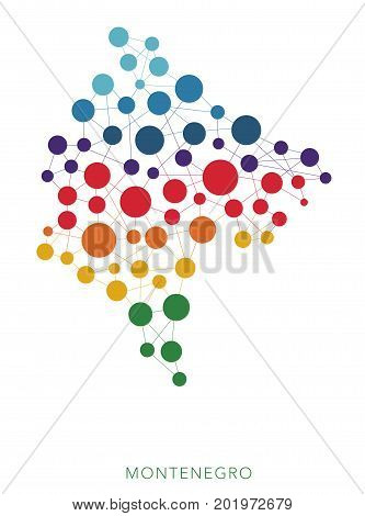 dotted texture Montenegro vector rainbow colorful background