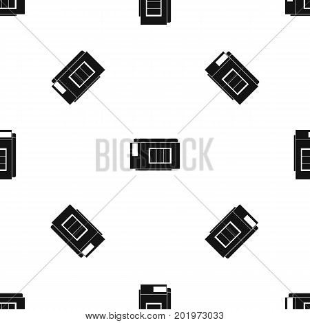 Inkjet printer cartridge pattern repeat seamless in black color for any design. Vector geometric illustration