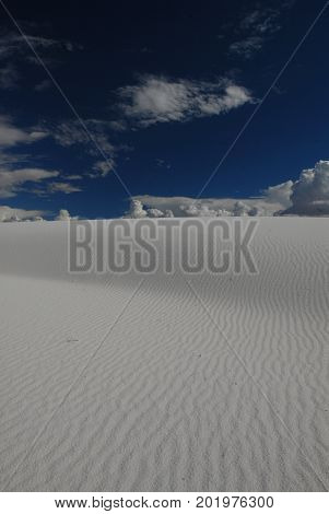 A view from White Sands National Monument in New Mexico.