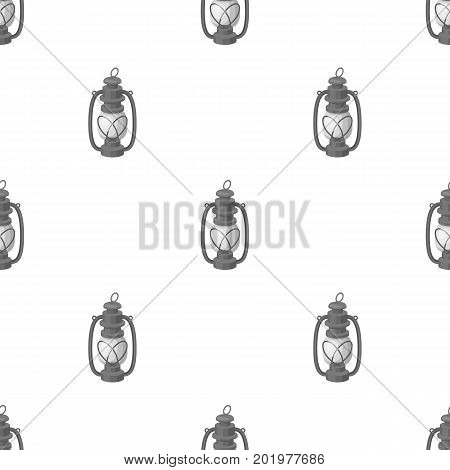 Portable kerosene lamp.African safari single icon in monochrome style vector symbol stock illustration .
