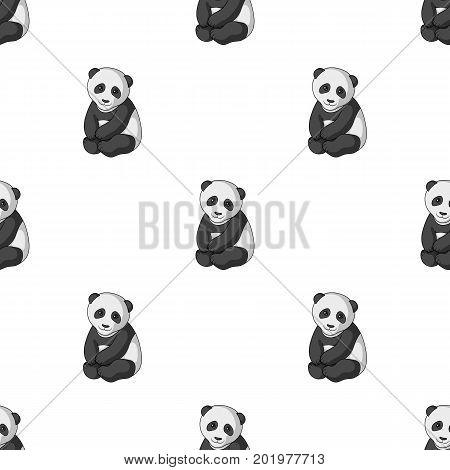 Panda.Animals single icon in monochrome style vector symbol stock illustration .