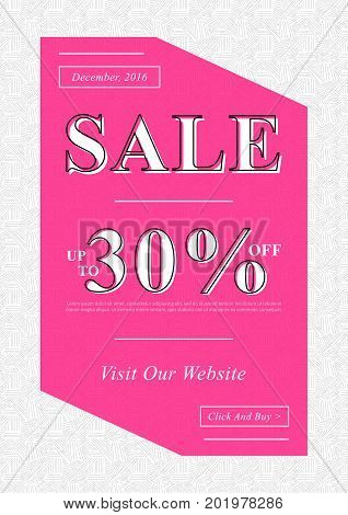 Vector Sale banner for online stores websites retail posters social media ads. Creative banner layout for m-commerce promotions newsletters sale materials coupons advertising.
