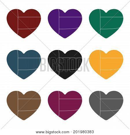 United Arab Emirates heart icon in black style isolated on white background. Arab Emirates symbol vector illustration.