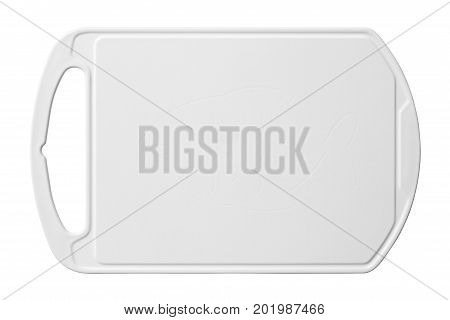 Plastic cutting board isolated on white background