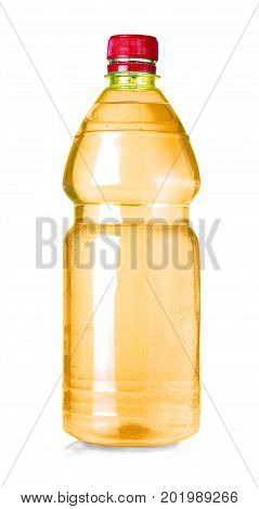 yellow water bottle isolated on white with clipping path
