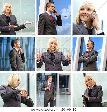 Collage von Bildern Geschäft gemacht