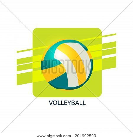 Volleyball vector icon. Isolated vector illustration. Web icon of volleyball.