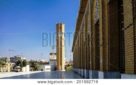 Exterior view of Abu Hanifa Mosque with the clocktower - 30-10-2011 Baghdad Iraq