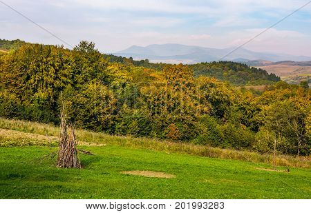 Rural Grassy Fields On Carpathian Hills