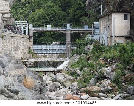Power Station In Pont Saint Martin