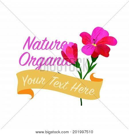 Colorful Watercolor Texture Vector Nature Botanic Garden Flower Banner Red Freesia