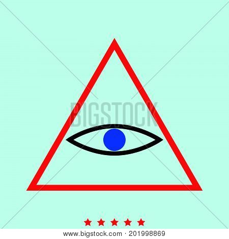 All Seeing Eye Symbol  It Is Icon .