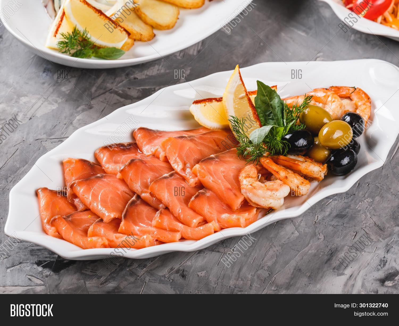 Seafood Platter Salmon Image Photo Free Trial Bigstock