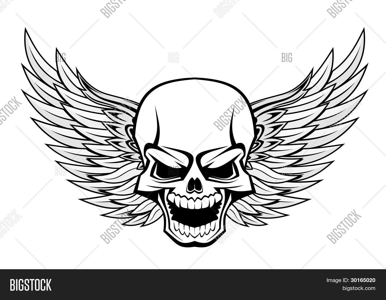 Skull Wings Vector Photo Free Trial Bigstock