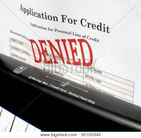 Shredding An Application For Credit