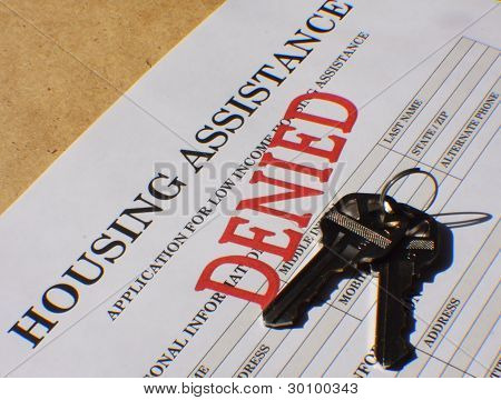 Denied Housing Assistance Application