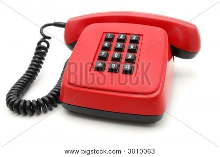 Red Telephone Set