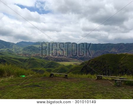Dzukou Valley, Nagaland, Northeast India. The Dzukou Valley Is Located At The Border Of The States O