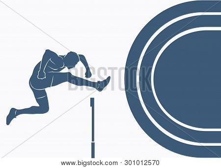 Steeplechase Race - Vector Background - Vector