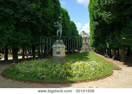 Park around Luxembourg Palace, Paris, France