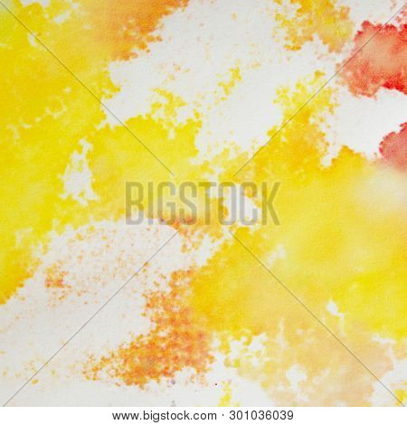Abstract Watercolor Background. Bright Colorful Hand Paint Art on the White Paper Background.