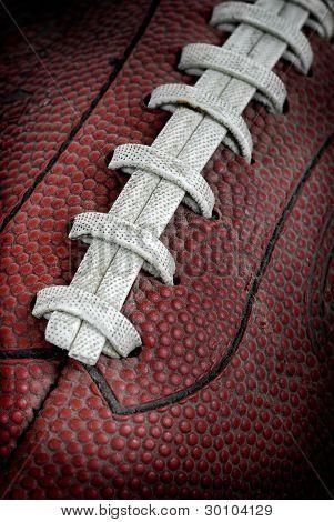 schmutzigen alten Fußball-closeup