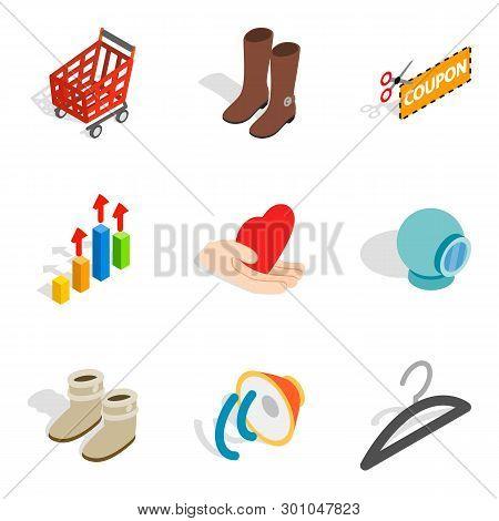 Intrusive Advertising Icons Set. Isometric Set Of 9 Intrusive Advertising Icons For Web Isolated On
