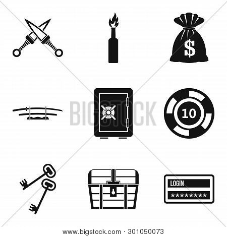 Criminal Offence Icons Set. Simple Set Of 9 Criminal Offence Icons For Web Isolated On White Backgro