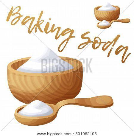 Baking Soda. Cartoon Vector Icon Isolated On White Background
