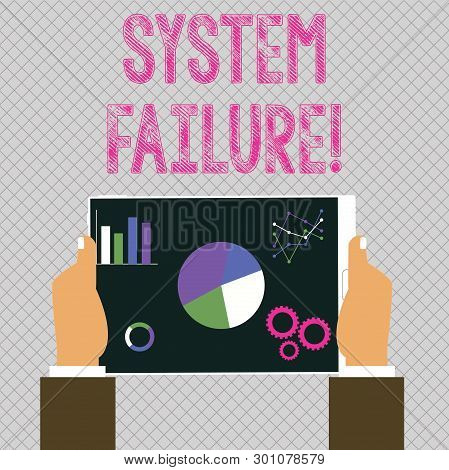 Conceptual Hand Writing Showing System Failure. Business Photo Showcasing Occur Because Of A Hardwar