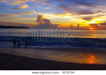 Sunset At Dreamland Beach, Bali