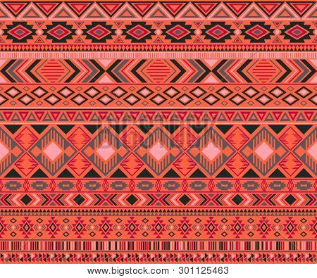 Peruvian American Indian Pattern Tribal Ethnic Motifs Geometric Seamless Background. Chic Native Ame