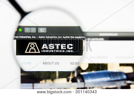 Richmond, Virginia, Usa - 9 May 2019: Illustrative Editorial Of Astec Industries Inc Website Homepag