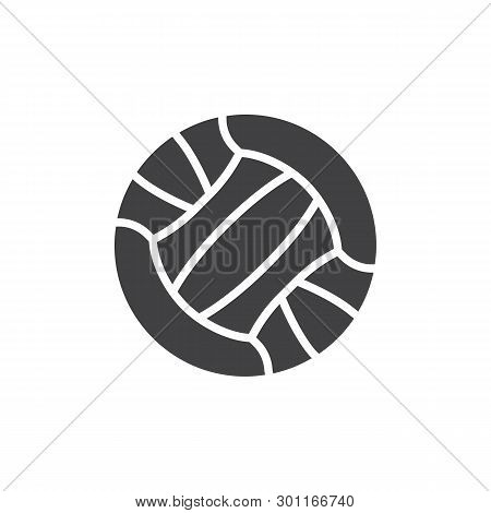 Volleyball Ball Vector Icon. Filled Flat Sign For Mobile Concept And Web Design. Sport Ball Glyph Ic