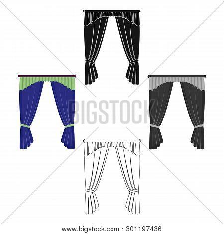 Cornice, Single Icon In Cartoon, Black Style.cornice, Vector Symbol Stock Illustration Web.